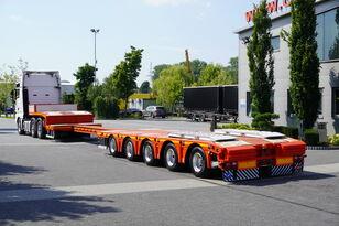 напівпричіп низькорамна платформа KÄSSBOHRER LB5E , GVW 81.000kg , 5xSAF , 2 steer axles , lift axle , 15,4 x