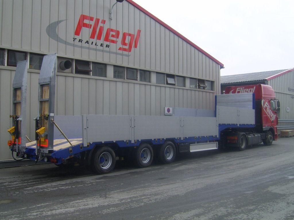 новий напівпричіп низькорамна платформа FLIEGL SDS 470 T