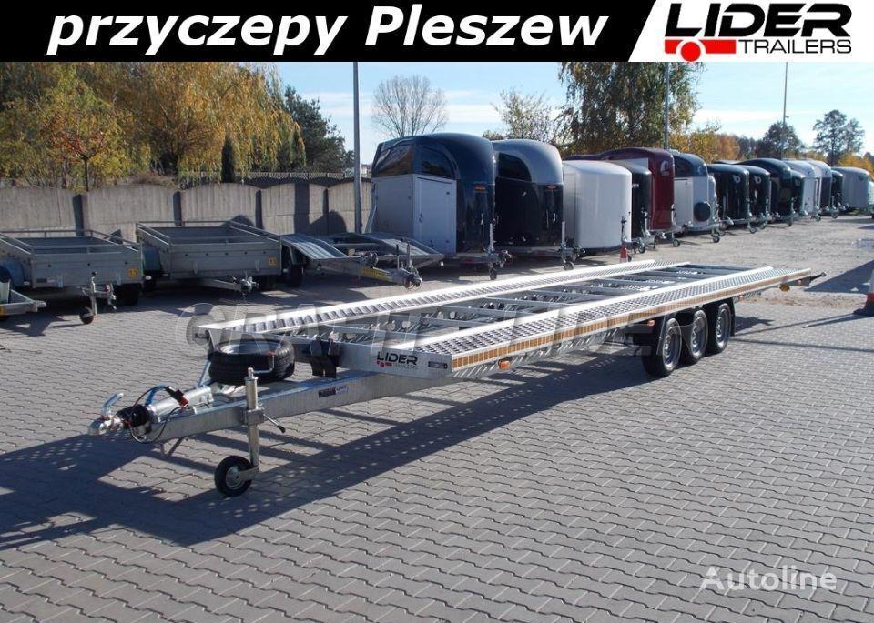 новий причіп автовоз LIDER lider-trailers LT-025 laweta na 2 auta 850x210cm ALU - STAL, do