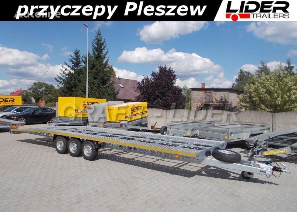 новий причіп автовоз LIDER trailers LT-075 przyczepa 850x210, ciężarowa laweta alumin