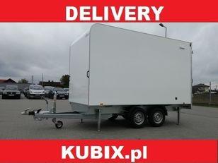 новий причіп фургон KUBIX Twin axle insulated van with wheels under the Tomplan TFSP 360T