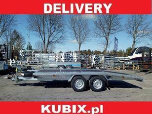 новий причіп низькорамна платформа KUBIX BORO twin-axle car hauler, dovetail, 450×200, plywood inside, GV