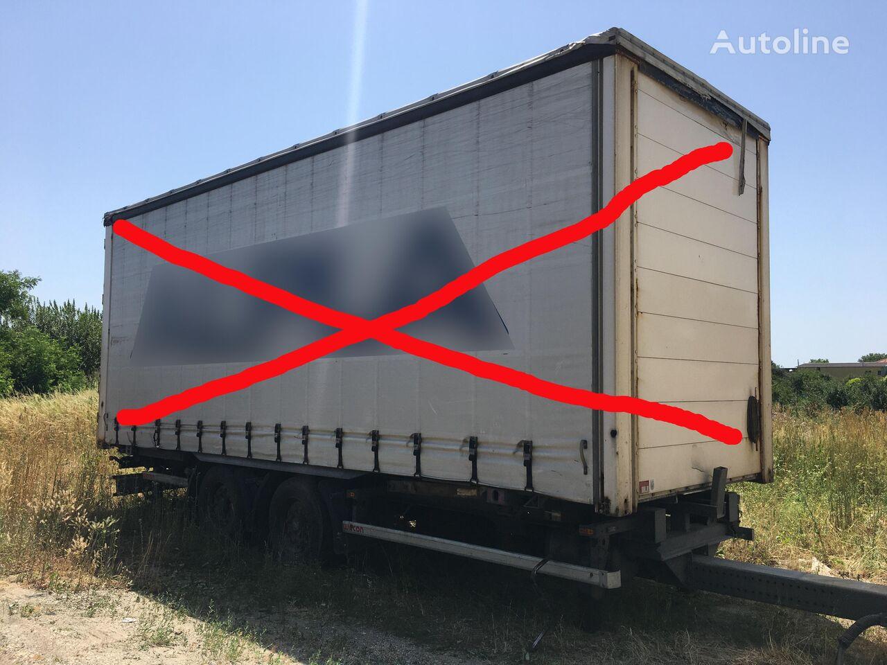 причіп шасі WECON AWZ 218 LN tandem, BDF Wechselfahrgestell