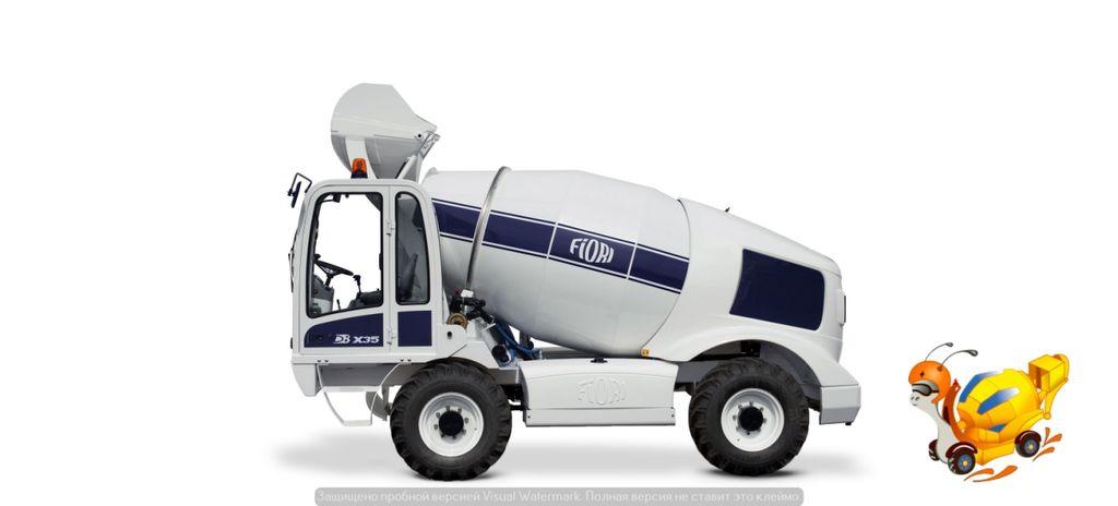 новий автобетонозмішувач FIORI DB X35