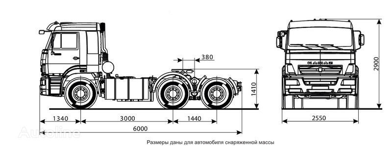 новий тягач КАМАЗ 6460 (6х4)