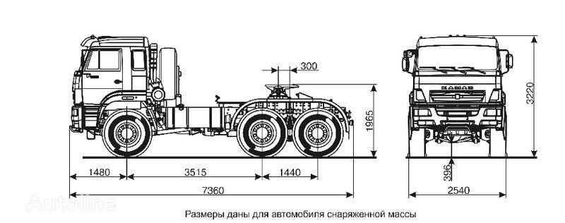 новий тягач КАМАЗ 65221