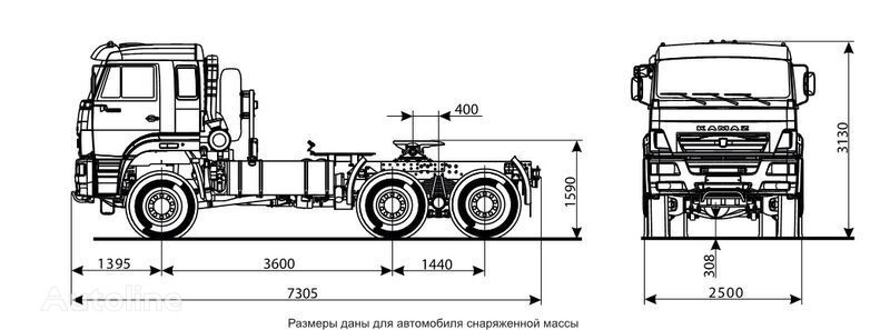 новий тягач КАМАЗ 65225