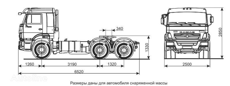 новий тягач КАМАЗ Седельный тягач КАМАЗ-65116 (6х4)