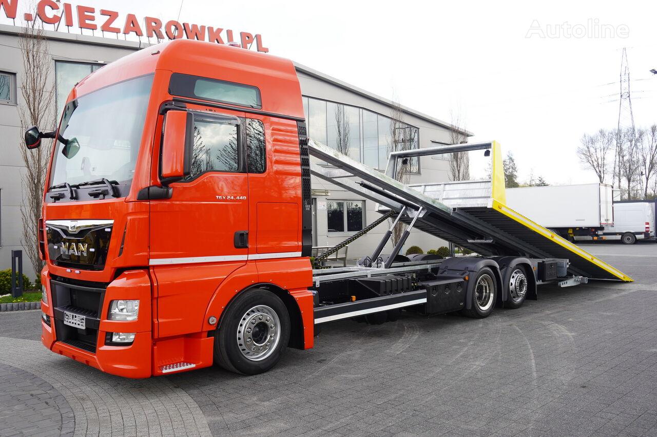 автовоз MAN TGX 26.440 XXL , E6 , 6X2 , NEW BODY 7,5m , hydraulic , 2x winch