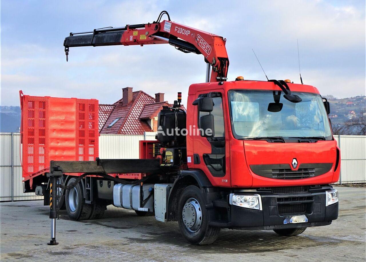 автовоз RENAULT PREMIUM370DXI Abschleppwagen 7,40m +Kran 6x2