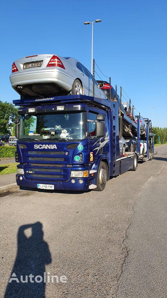 автовоз SCANIA P420 + причіп автовоз