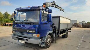 бортова вантажiвка DAF 45.160 Ti / 8 x Bolts Full Spring / HIAB 060