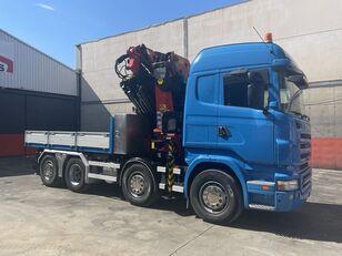 бортова вантажiвка SCANIA R 480 palfinger 85002 + jib