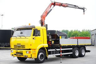 бортова вантажiвка КАМАЗ 65117 , 6x4 , Crane Fassi 95 , rotator , box 6m