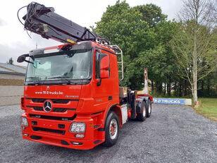 лісовоз MERCEDES-BENZ Actros 3360 -6x4-hiab crane-steel suspension-alcoa