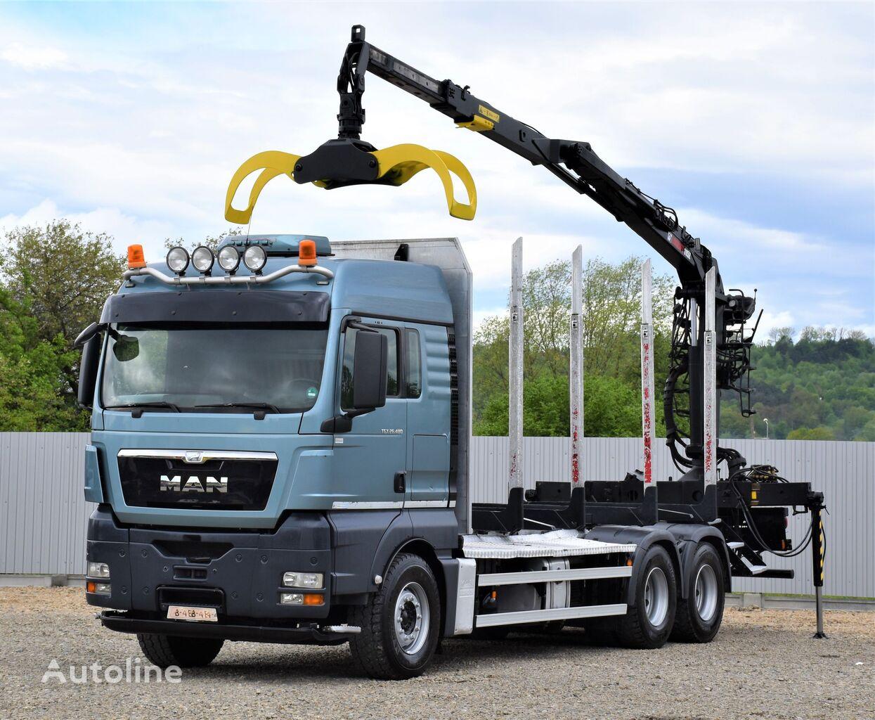 лісовоз MAN TGX 26.480 Holztransporter + LOGLIFT 115Z80A/6x4