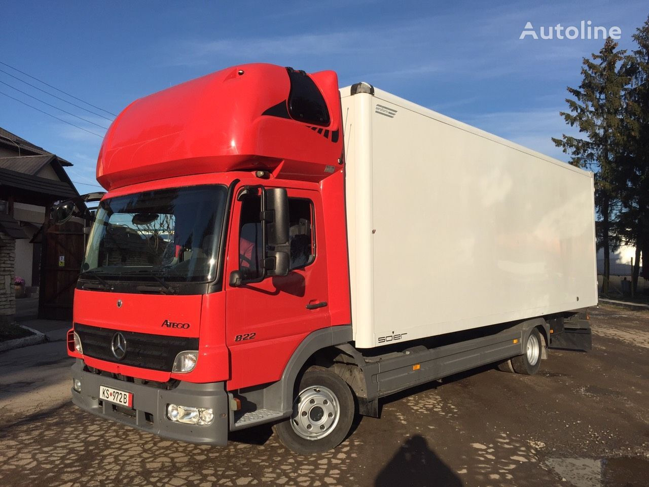 вантажівка фургон MERCEDES-BENZ Atego 822