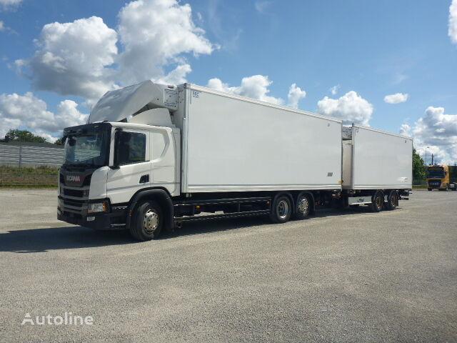 вантажівка рефрижератор SCANIA P410 + причіп