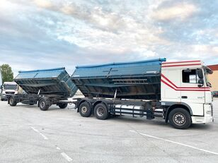 вантажівка зерновоз DAF XF105.460 3-Seiten GETREIDEKIPPER+ANHÄNGER // NEUE KUPPLUNG ..:: + причіп зерновоз