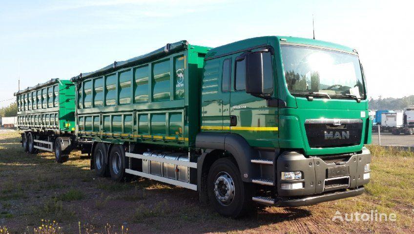 новий вантажівка зерновоз MAN TGS 33.440 + причіп зерновоз