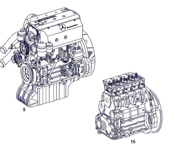 двигун Motor Completo Mercedes-Benz ATEGO 815 K (A 002 010 65 00) до вантажівки MERCEDES-BENZ ATEGO 815 K